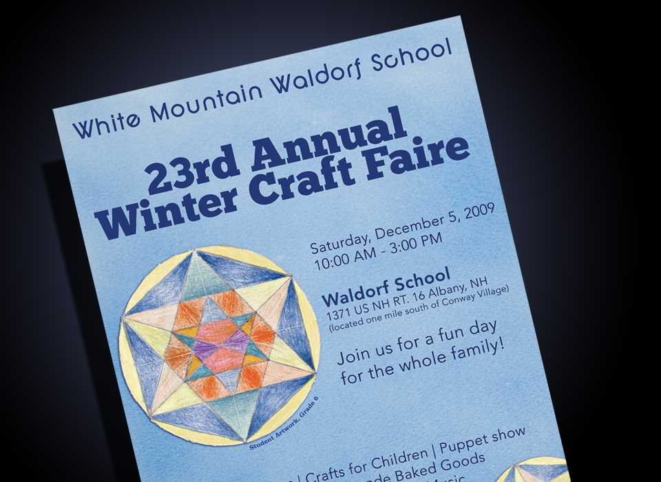White Mountain Waldorf School Craft Fair Poster