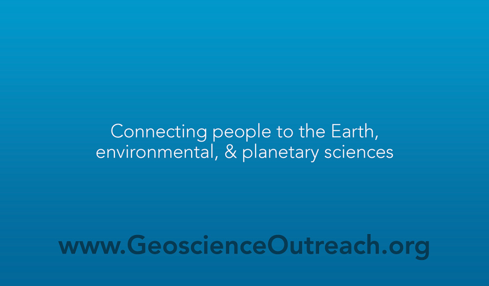 Geoscience Business Card Back