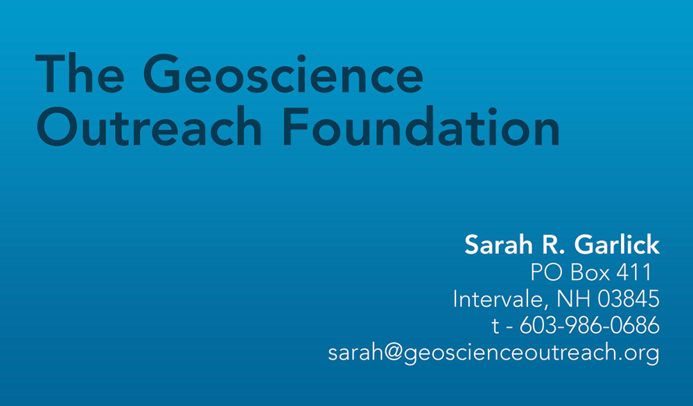 Geoscience Business Card Front